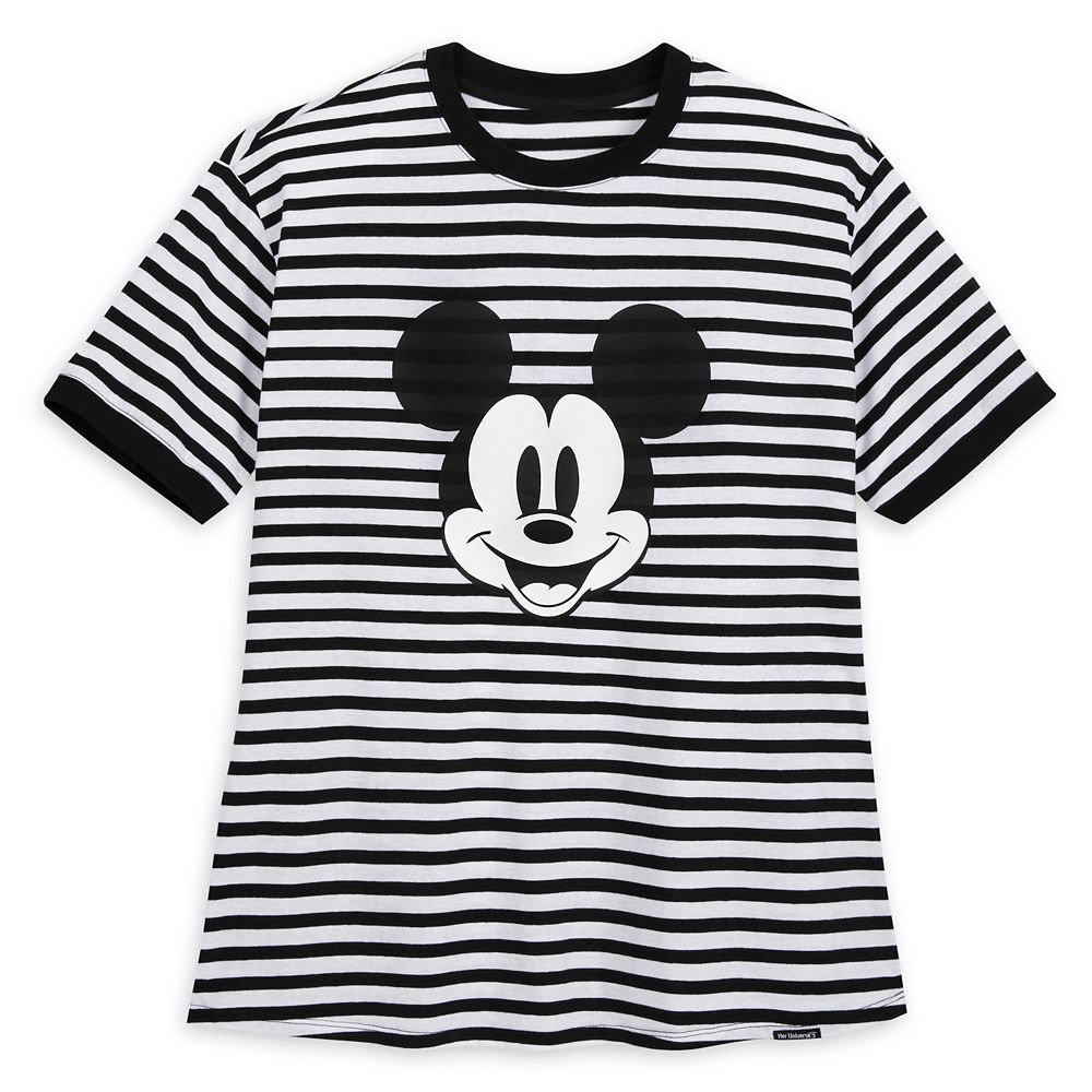 Mickey Mouse Striped Ringer T-Shirt for Women by Her Universe