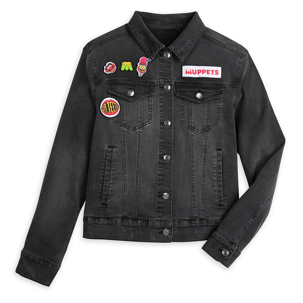 Dr. Teeth and the Electric Mayhem Black Denim Jacket for Women
