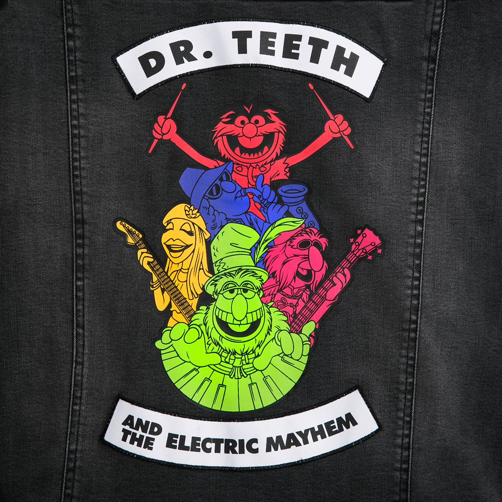 Dr. Teeth and the Electric Mayhem Black Denim Jacket for Women