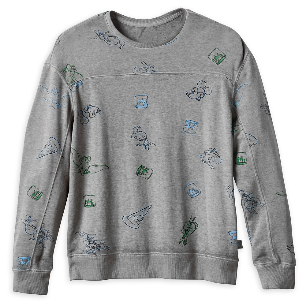 Mickey Mouse and Friends Pullover Top for Men – Disney Ink & Paint