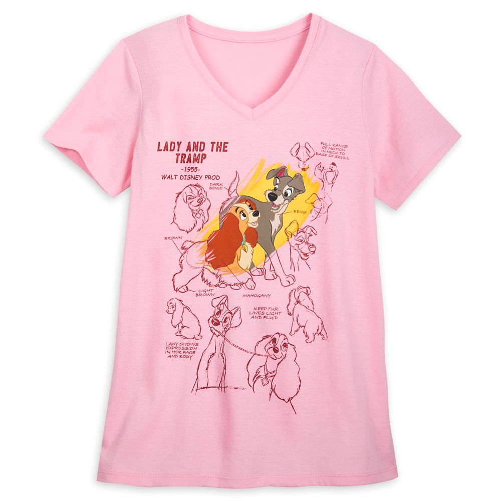 Lady and the Tramp Fashion T-Shirt for Women – Disney Ink & Paint