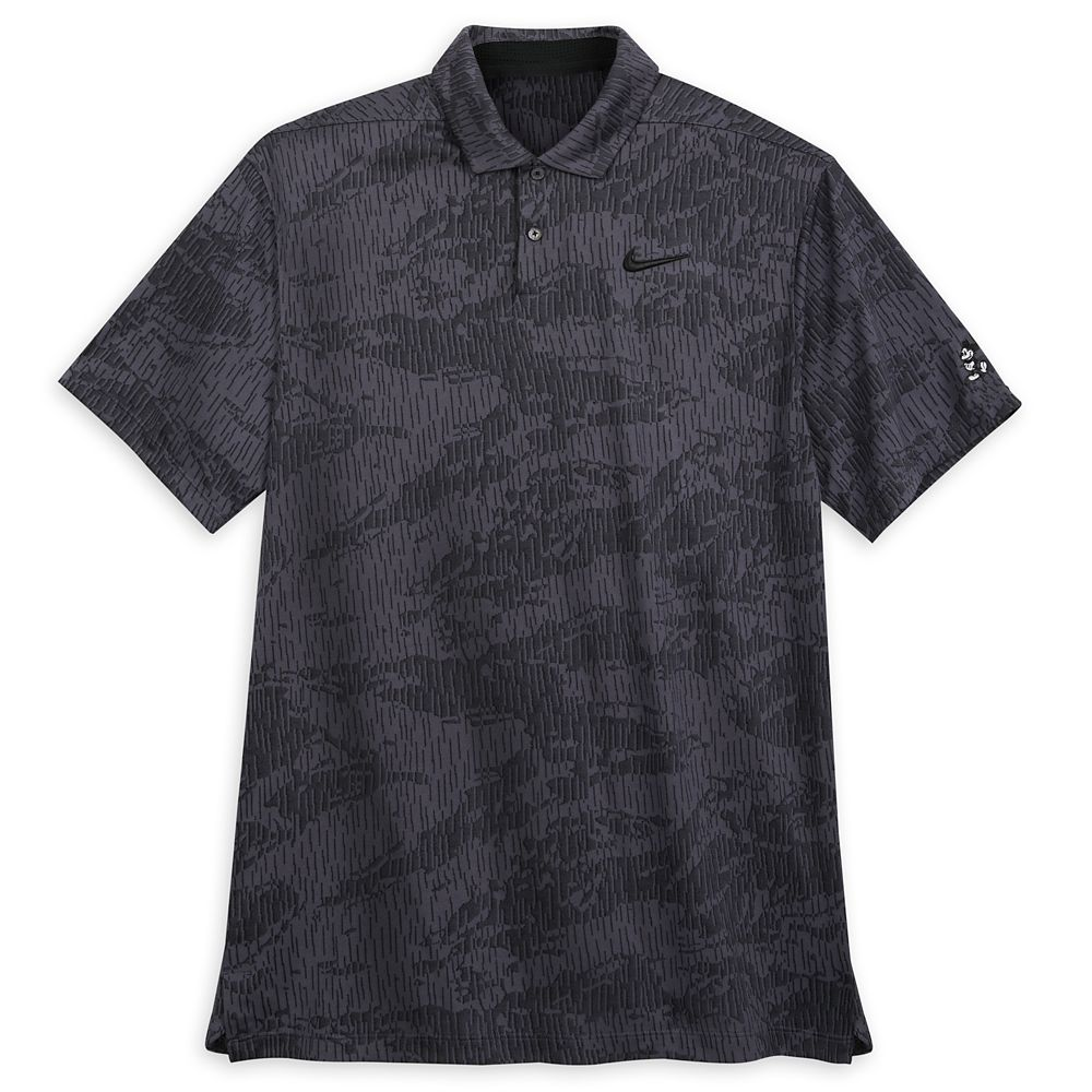 Mickey Mouse Performance Polo Shirt for Men by Nike – Jacquard Charcoal