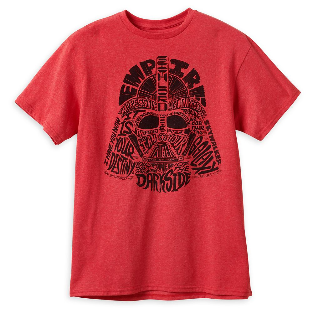 Darth Vader Words T-Shirt for Adults