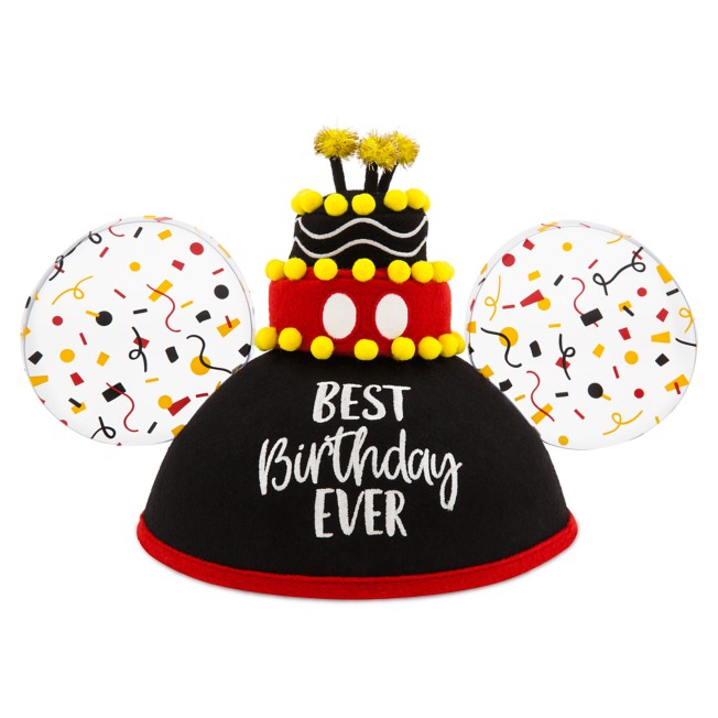 Mickey Mouse ''Best Birthday Ever'' Ear Hat for Adults