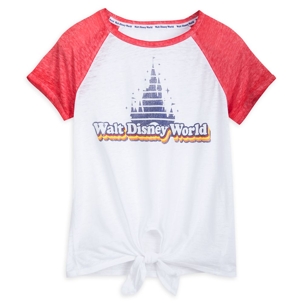 Walt Disney World Raglan Knotted T-Shirt for Women