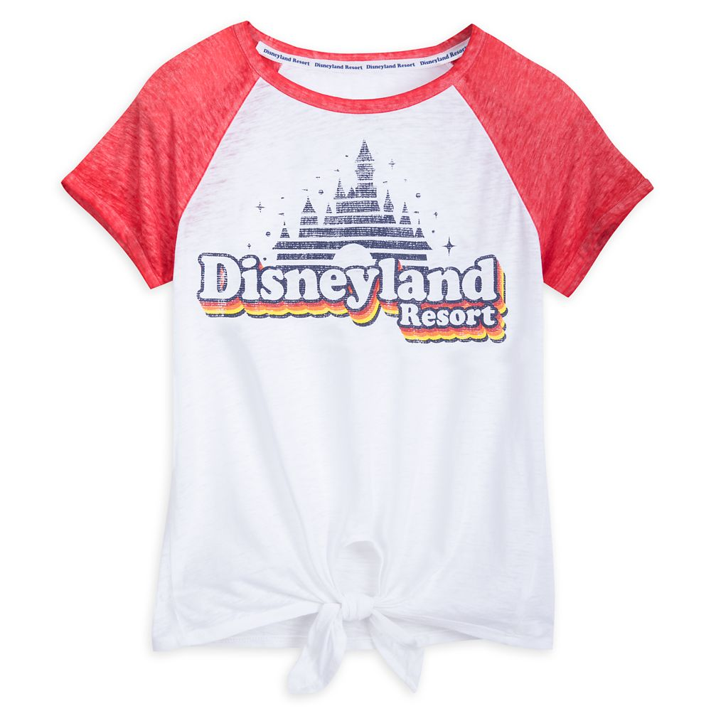 Disneyland Raglan Knotted T-Shirt for Women