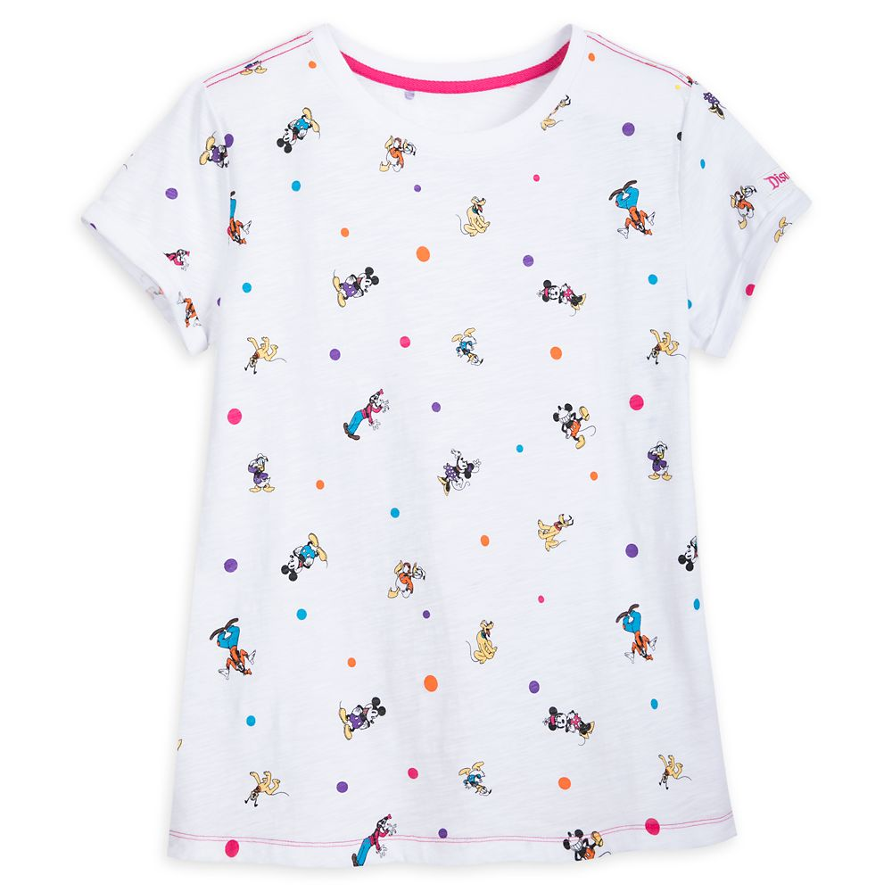 Mickey Mouse and Friends Cap Sleeve T-Shirt for Women – Disneyland