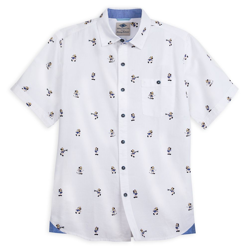 Captain Mickey Mouse Woven Shirt for Men by Tommy Bahama  Disney Cruise Line