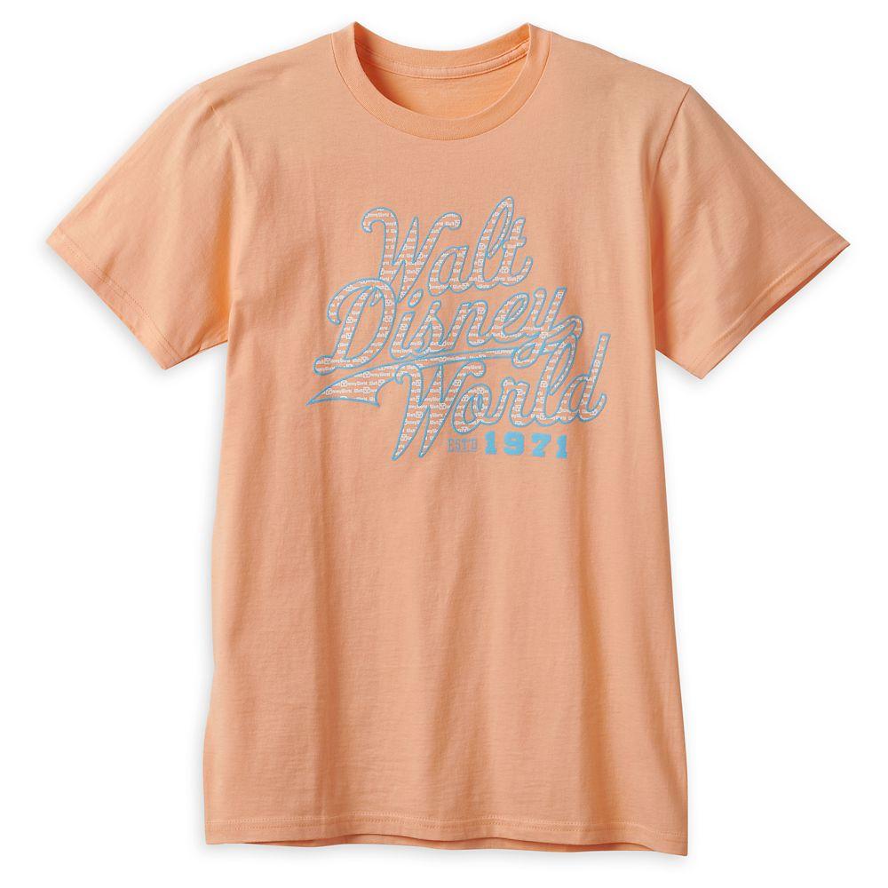 Walt Disney World Collegiate Script T-Shirt for Adults