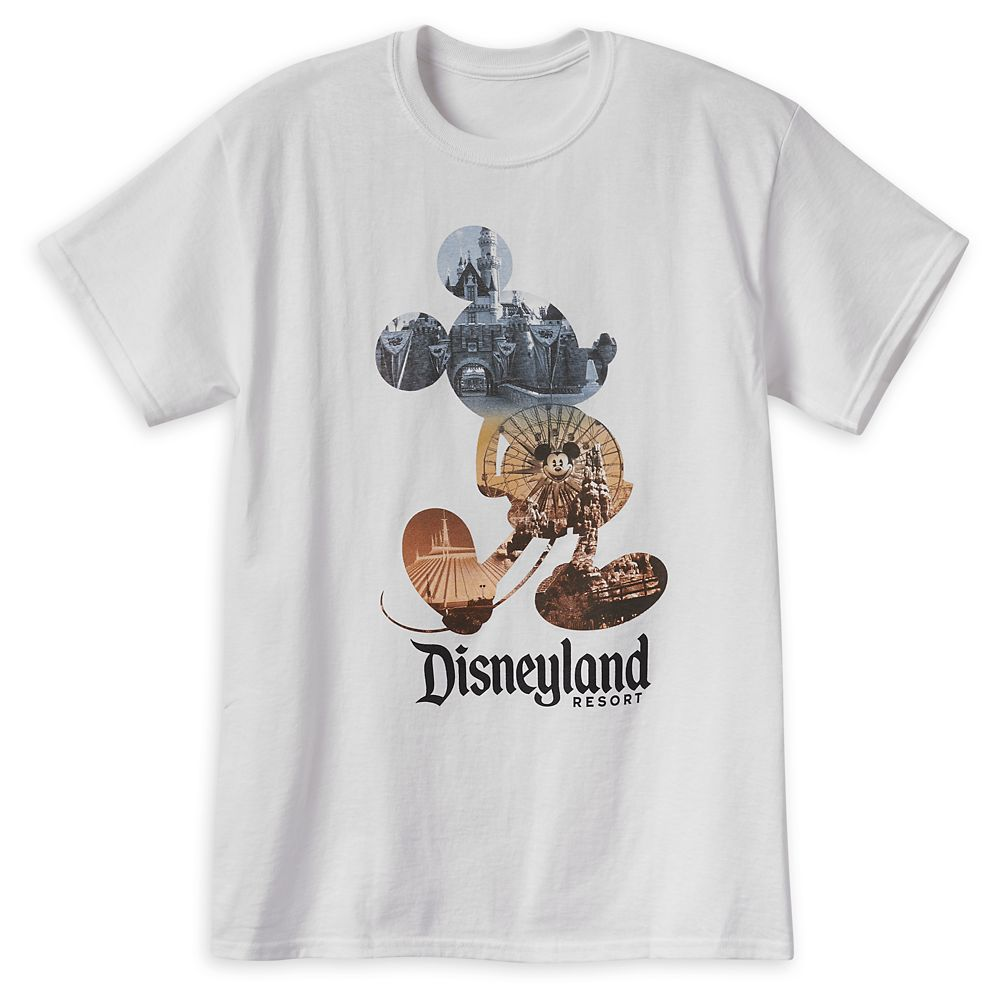 Mickey Mouse Photo Collage T-Shirt for Adults – Disneyland