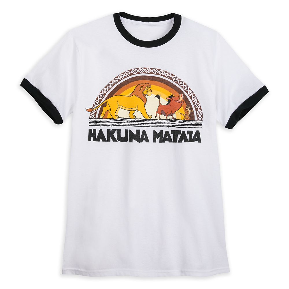The Lion King ''Hakuna Matata'' Ringer T-Shirt for Adults