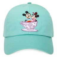 Mickey and Minnie Mouse Park Life Baseball Cap for Adults – Mad Tea Party – Walt Disney World
