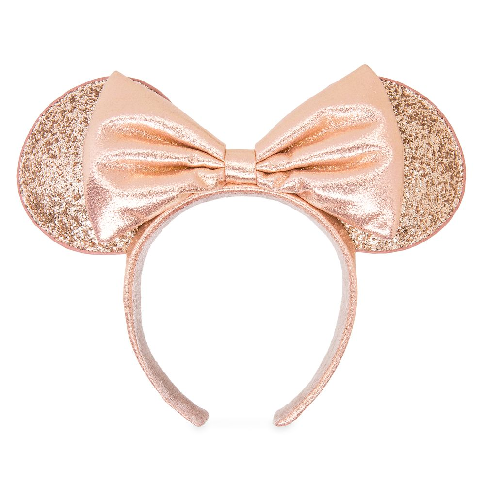 Sequin Floral Minnie Mouse Ears Rose Gold,White,Gold