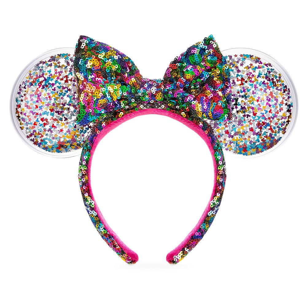 Minnie Mouse Sequined Ear Headband with Bow – Confetti