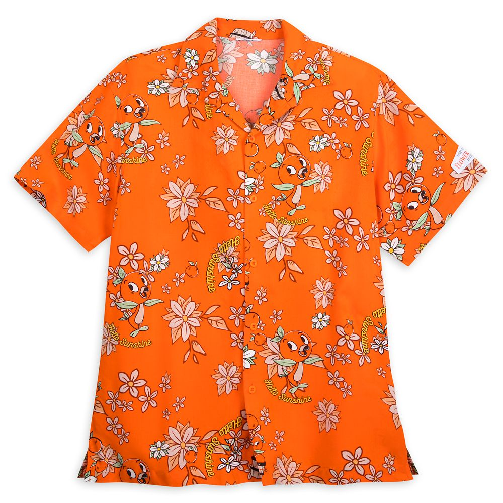 Orange Bird Aloha Shirt for Men – Epcot International Flower and Garden Festival 2020