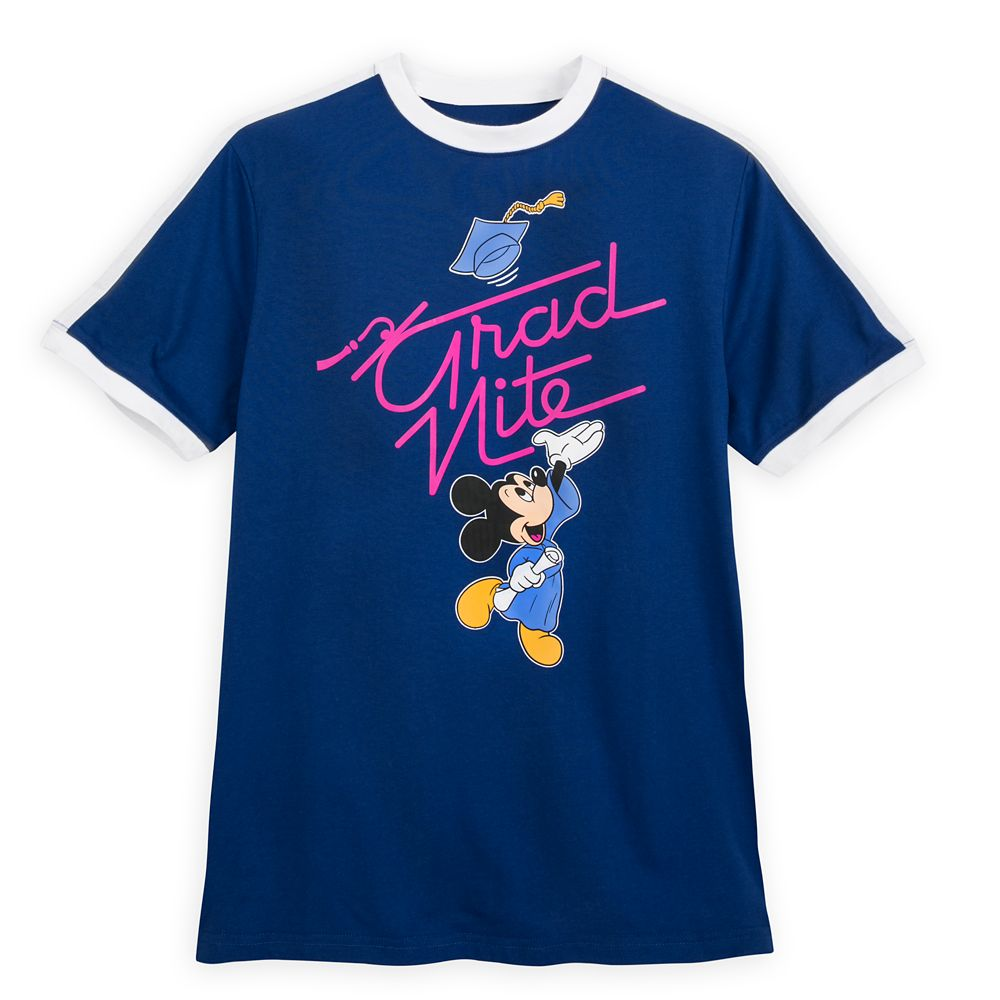 Mickey Mouse Grad Nite Ringer T-Shirt for Adults