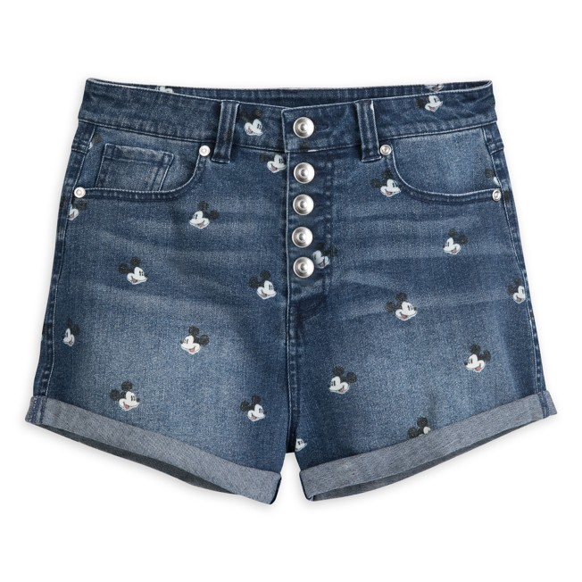 Mickey Mouse Denim Shorts for Juniors