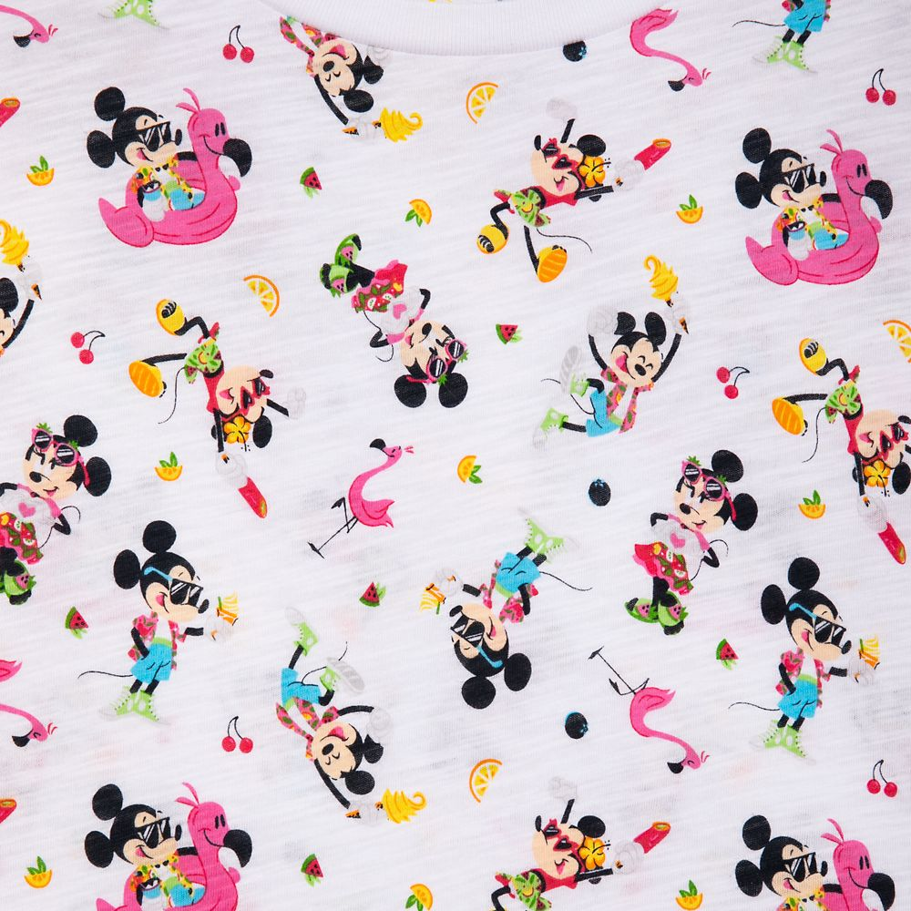 Mickey and Minnie Mouse Scoop Neck T-Shirt for Women