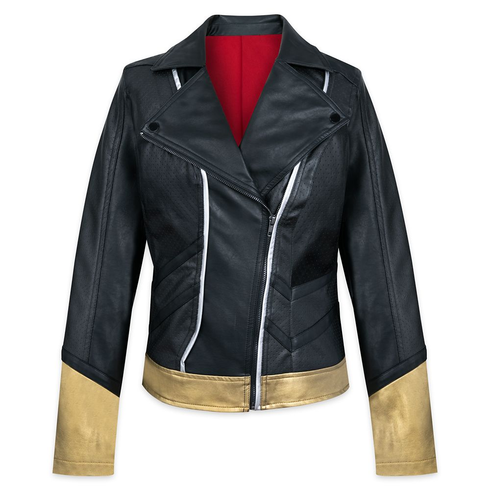 Black Widow Faux Leather Moto Jacket for Women by Her Universe