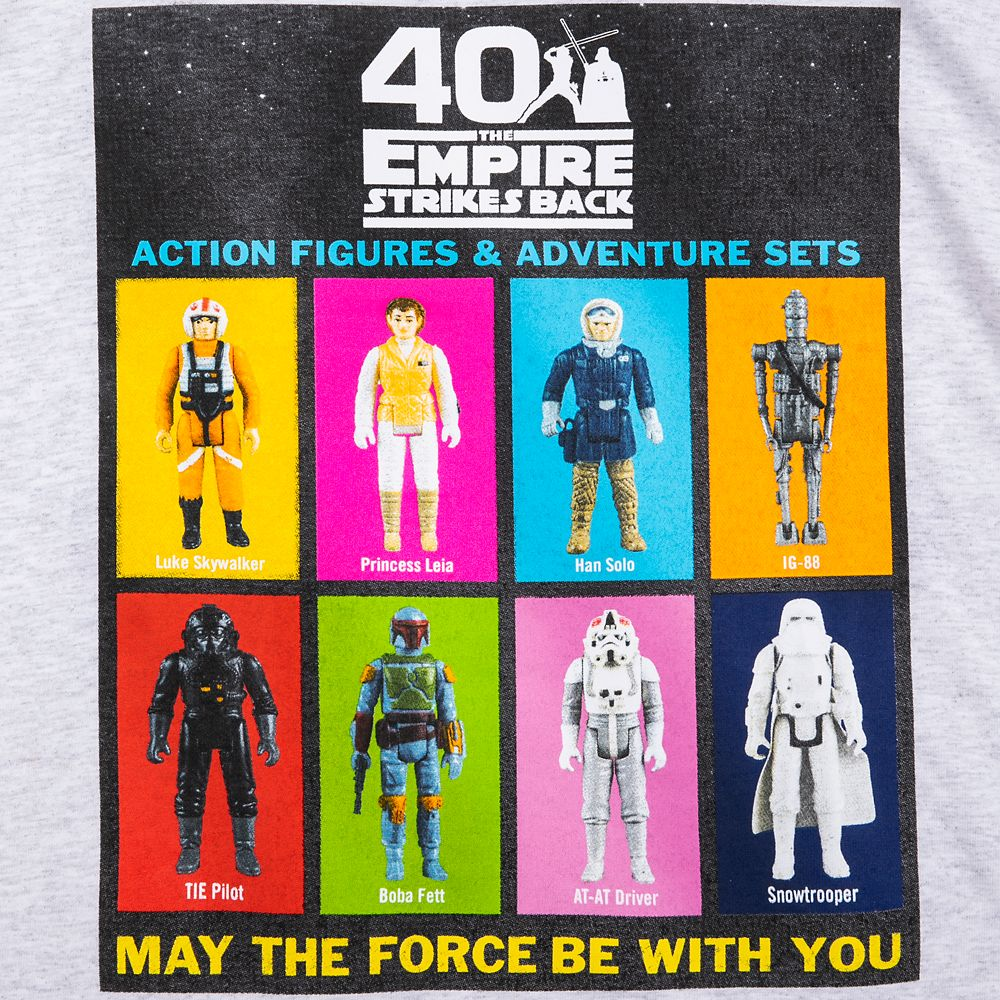 Star Wars: The Empire Strikes Back Action Figures T-Shirt for Adults – 40th Anniversary