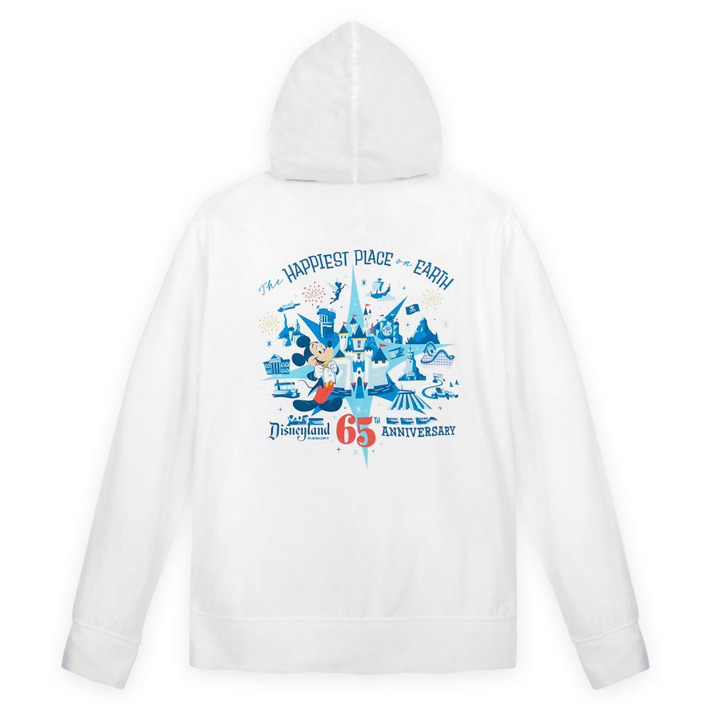 Mickey Mouse Hoodie for Adults – Disneyland 65th Anniversary