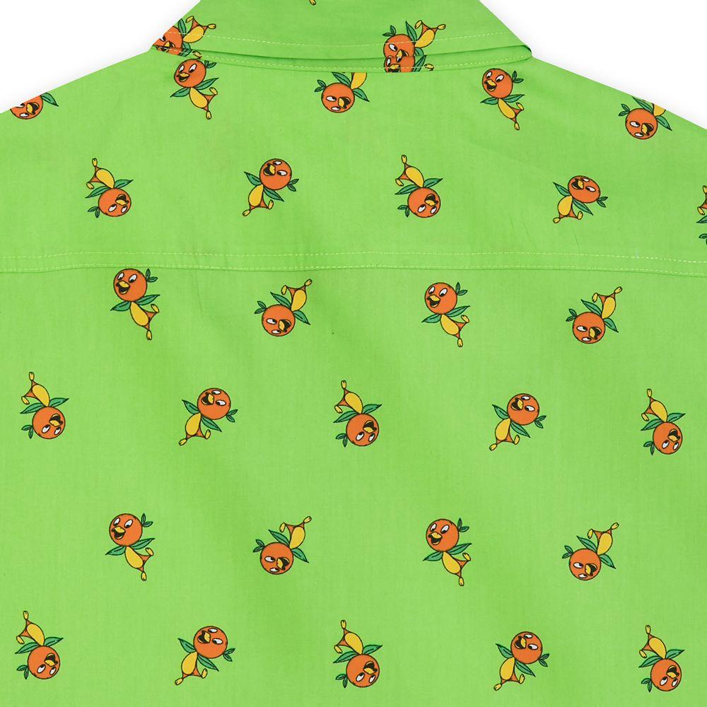 Orange Bird Woven Shirt for Men