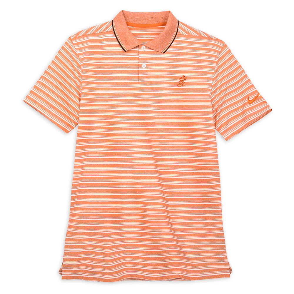 Mickey Mouse Performance Polo Shirt for Men by Nike – Coral Striped