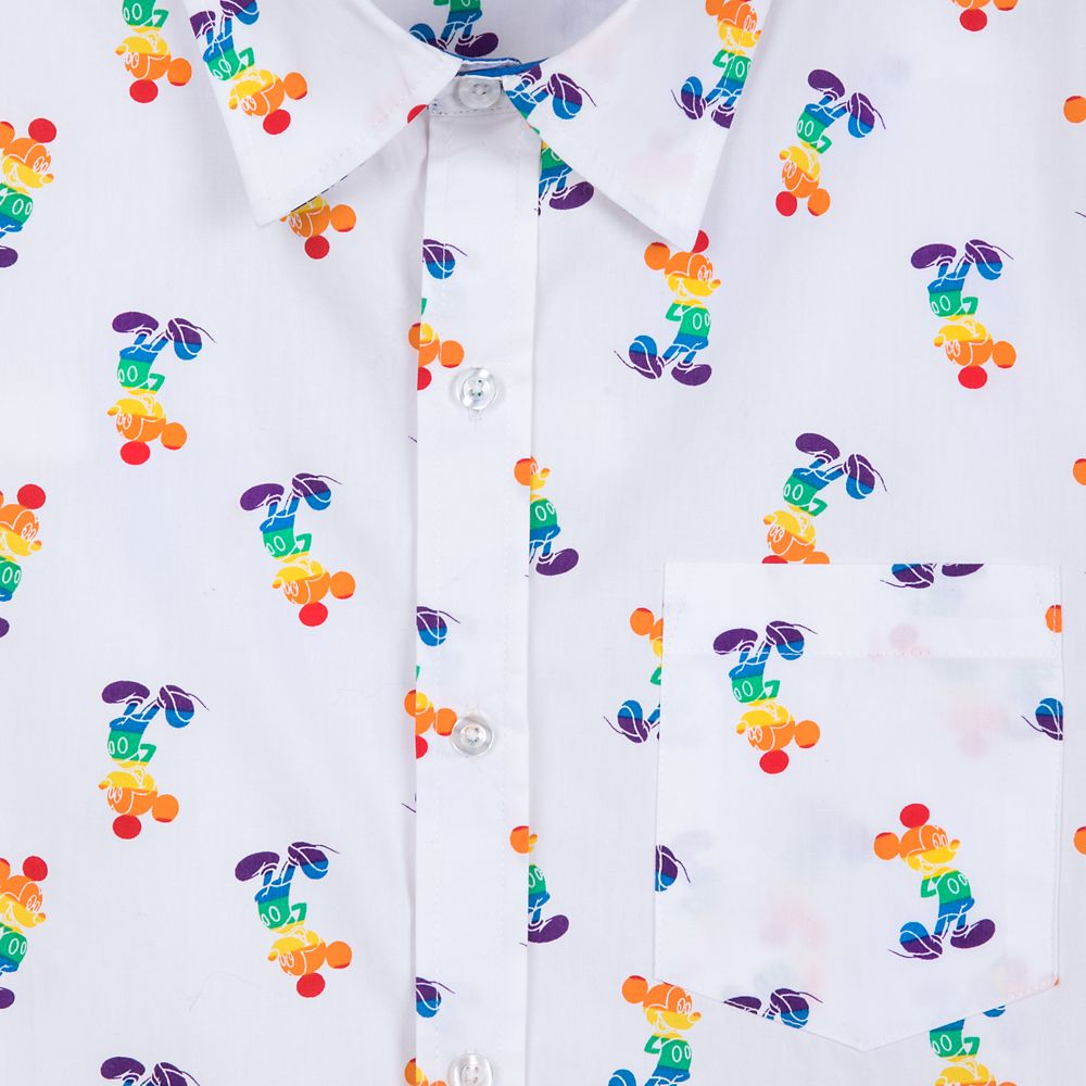 Rainbow Disney Collection Mickey Mouse Woven Shirt – Unisex – 2020
