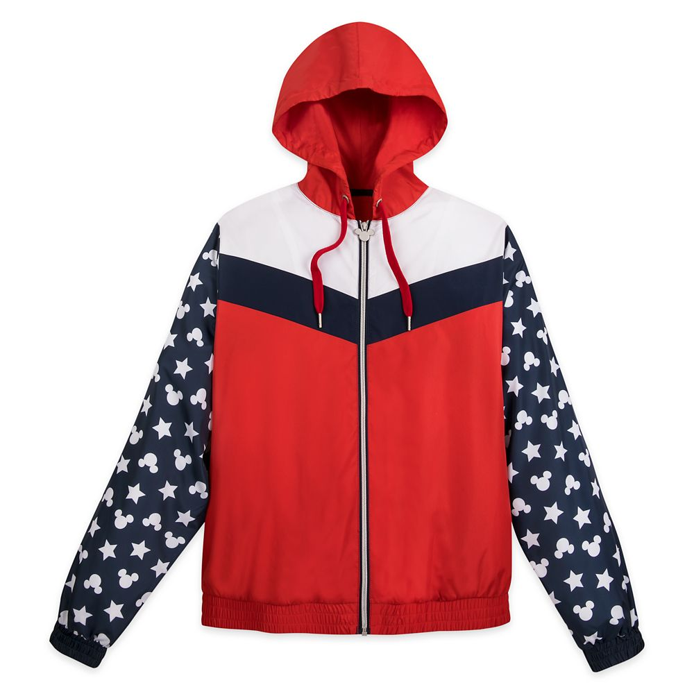 Mickey Mouse Icon Americana Windbreaker Jacket for Women