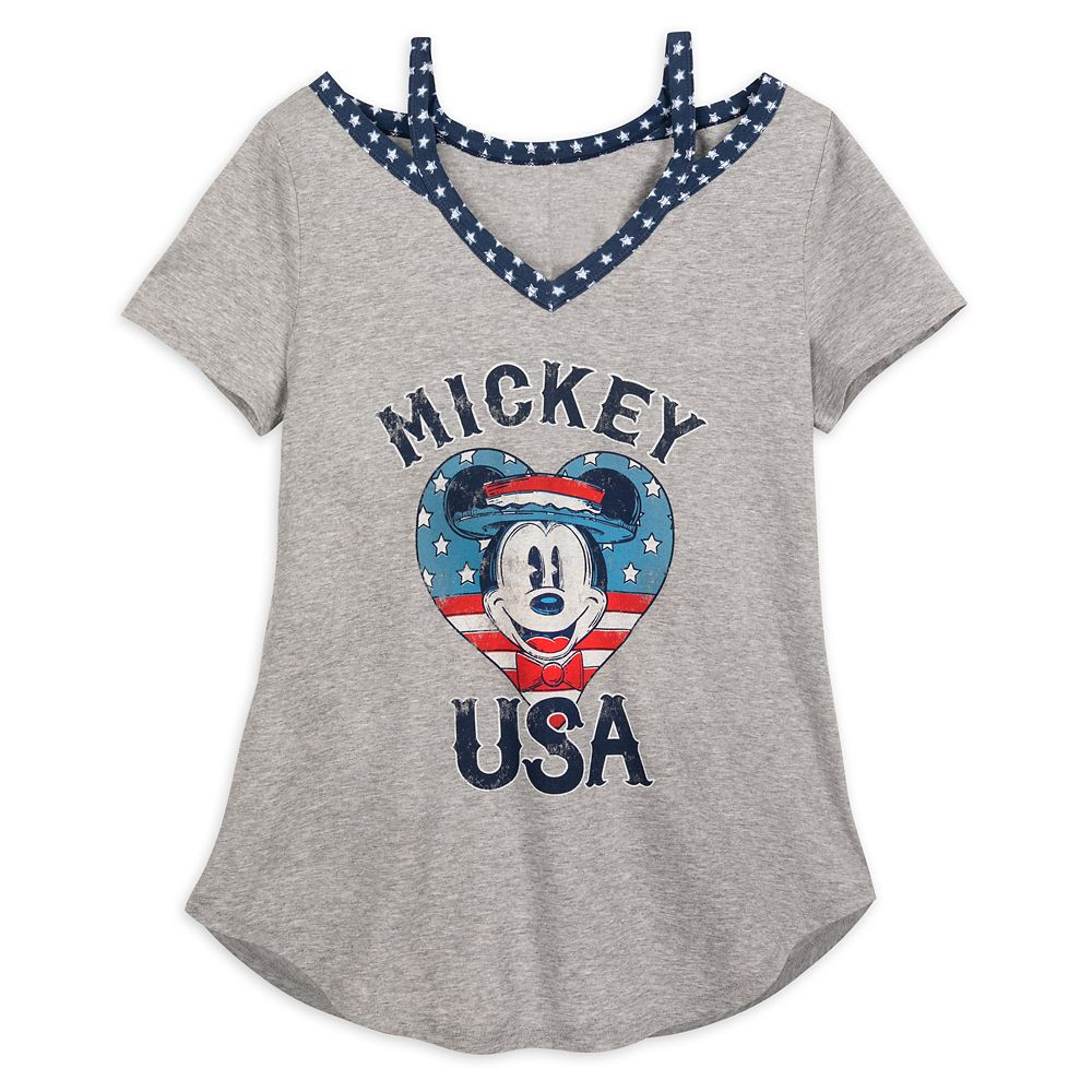 Mickey Mouse ''USA'' T-Shirt for Women
