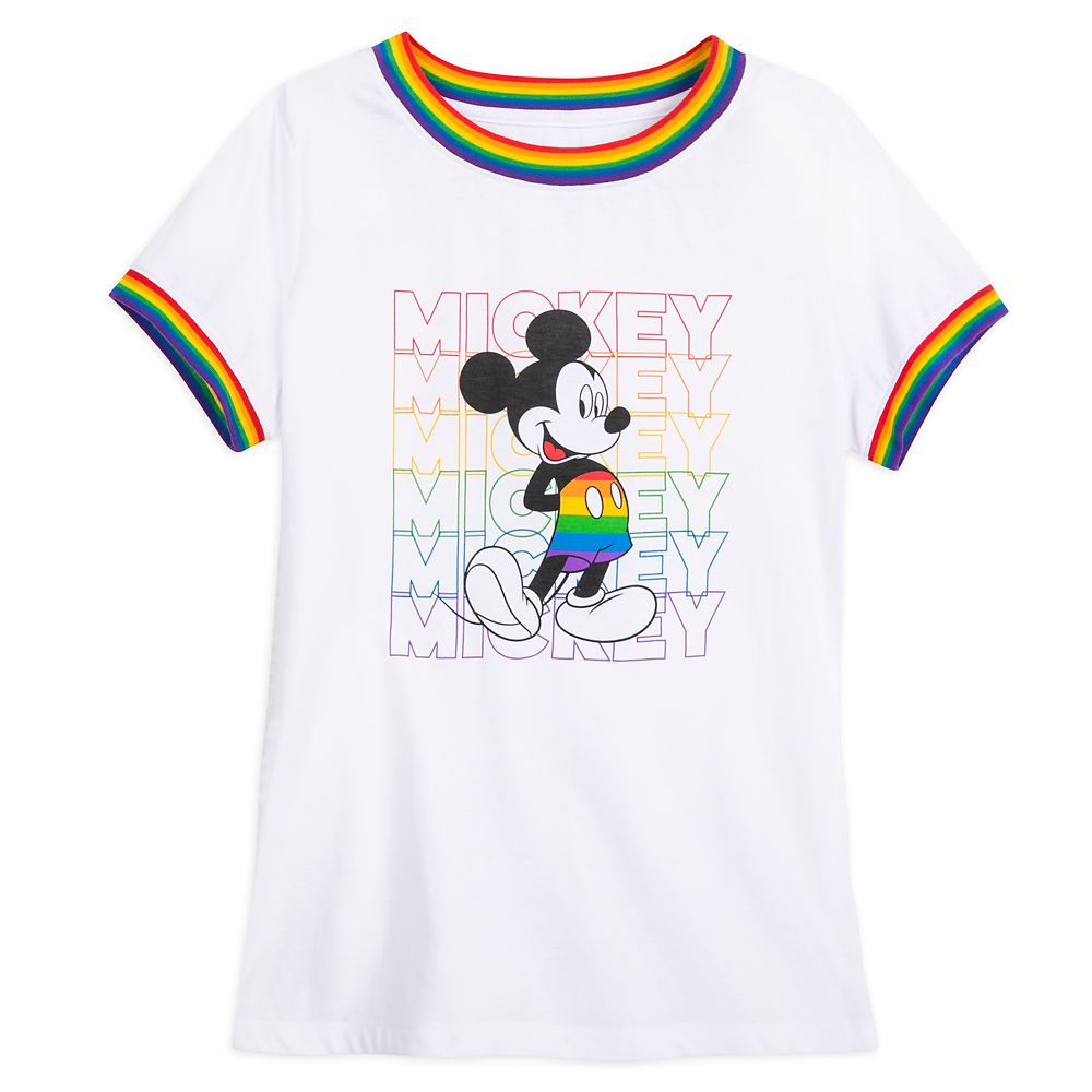 Rainbow Disney Collection Mickey Mouse Ringer T-Shirt – Fashion Fit – 2020