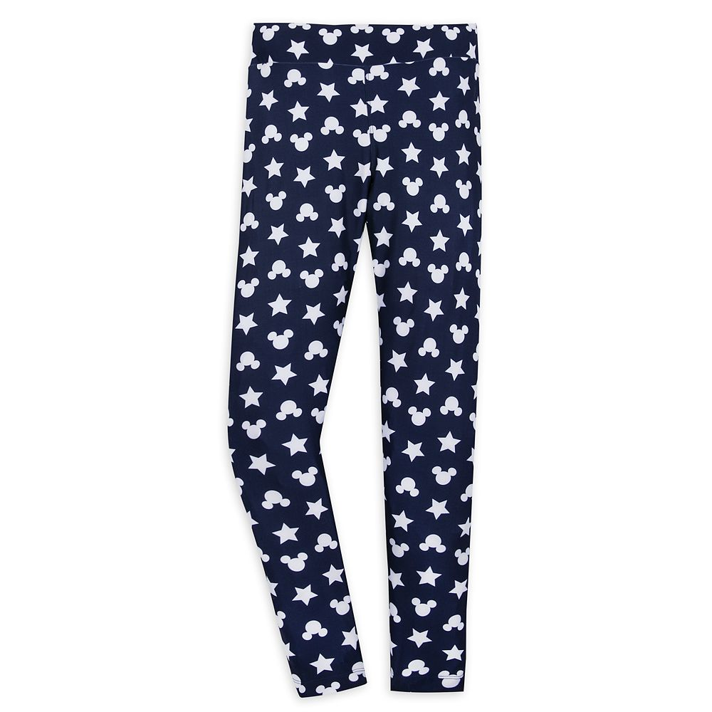 Mickey Mouse Icon and Star Leggings for Women