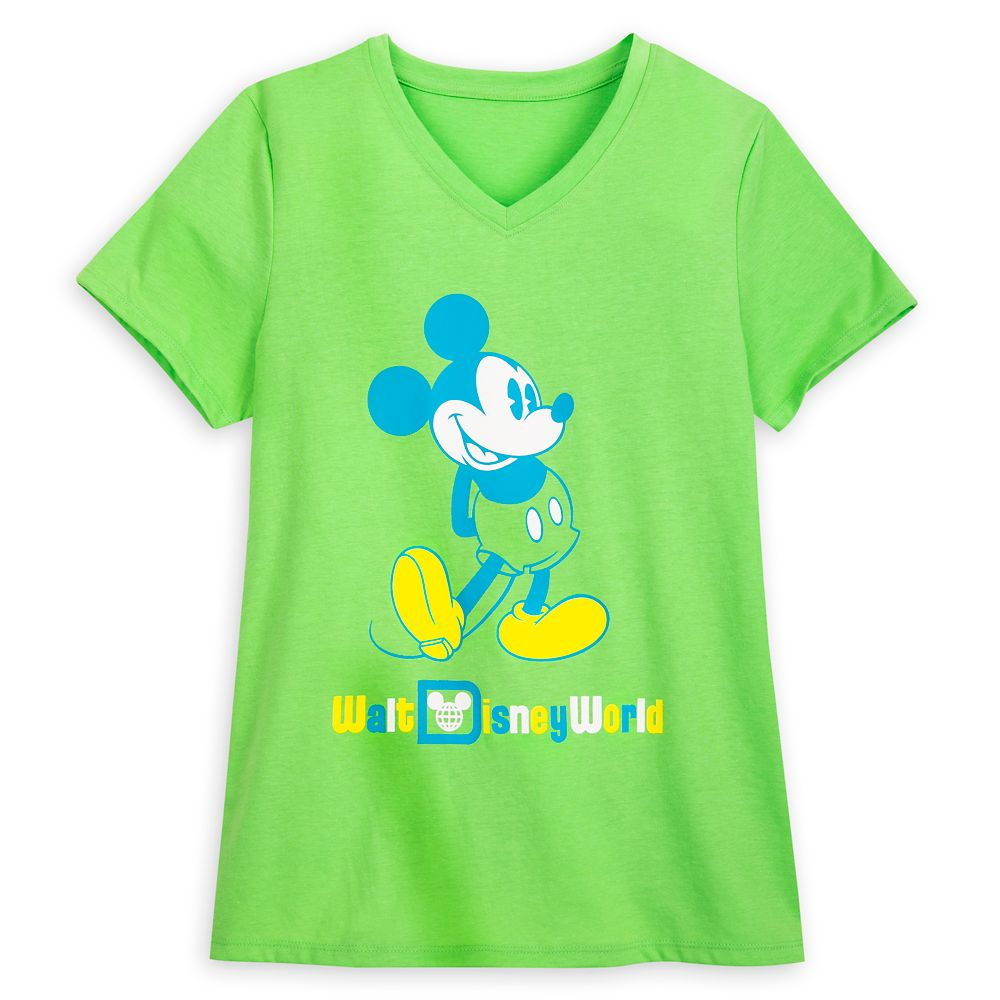 Mickey Mouse Classic Neon T-Shirt for Women – Walt Disney World – Green