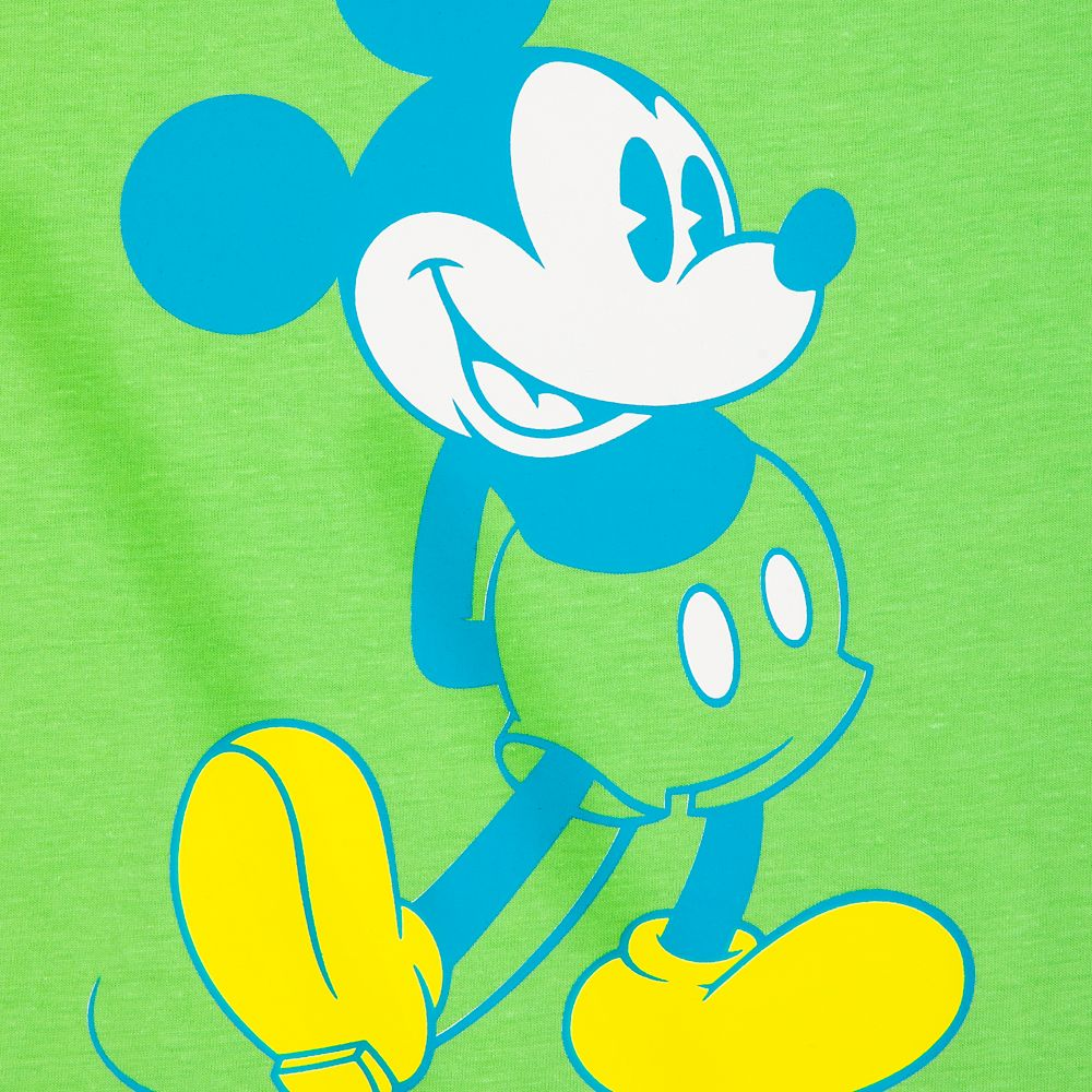 Mickey Mouse Classic Neon T-Shirt for Women – Walt Disney World – Green