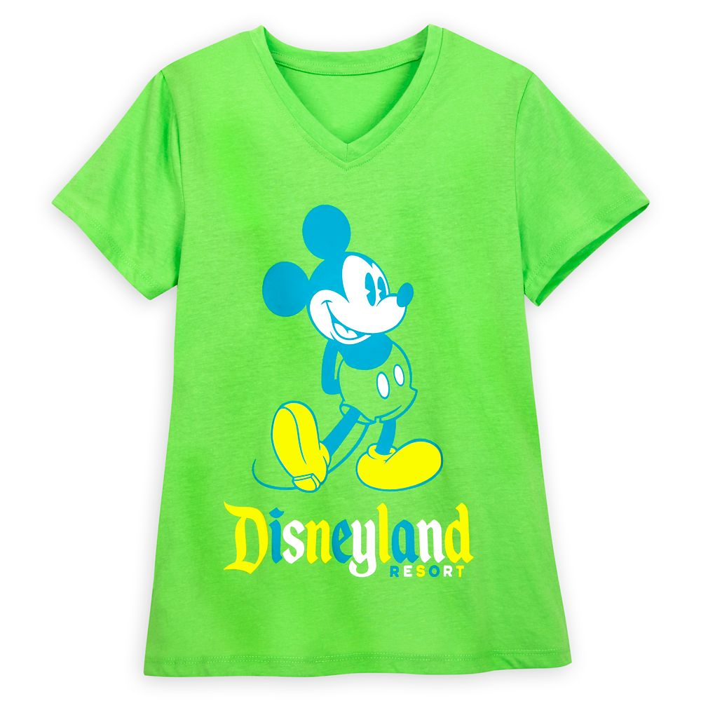 Mickey Mouse Classic T-Shirt for Women – Disneyland – Neon Lime