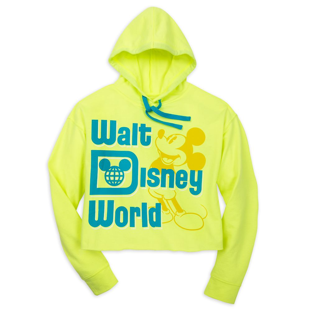 Mickey Mouse Pullover Hoodie for Women – Walt Disney World – Neon Yellow