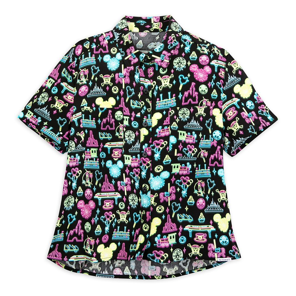Disney Parks Neon Woven Shirt for Women by Her Universe
