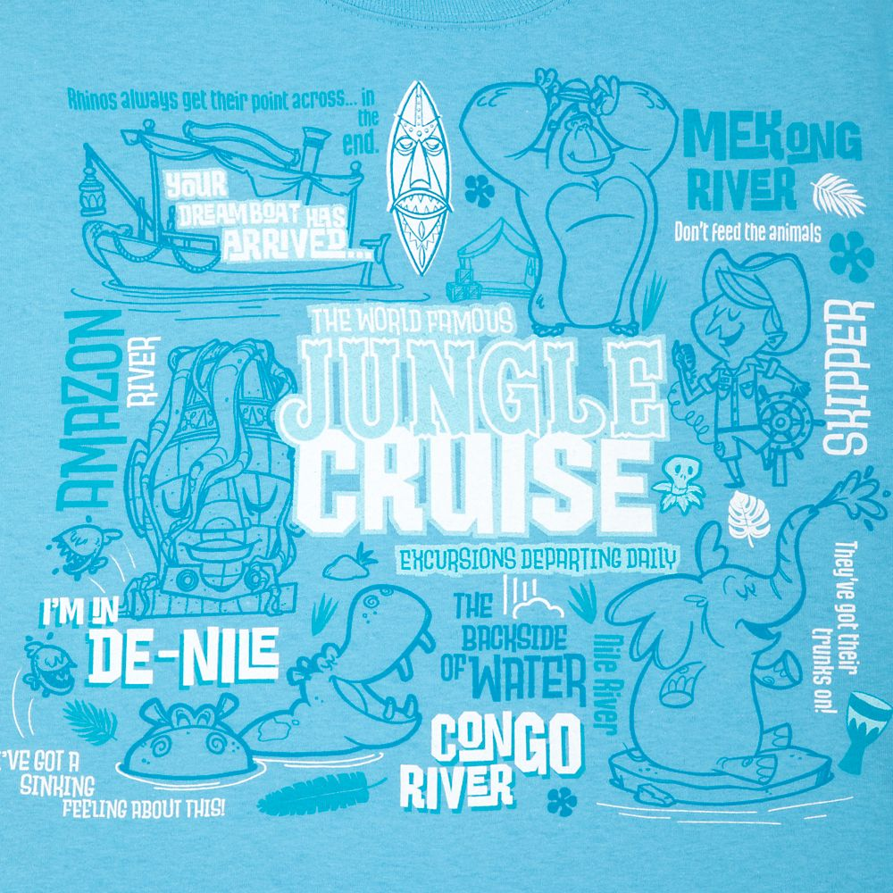 Jungle Cruise Attraction Icons T-Shirt for Adults