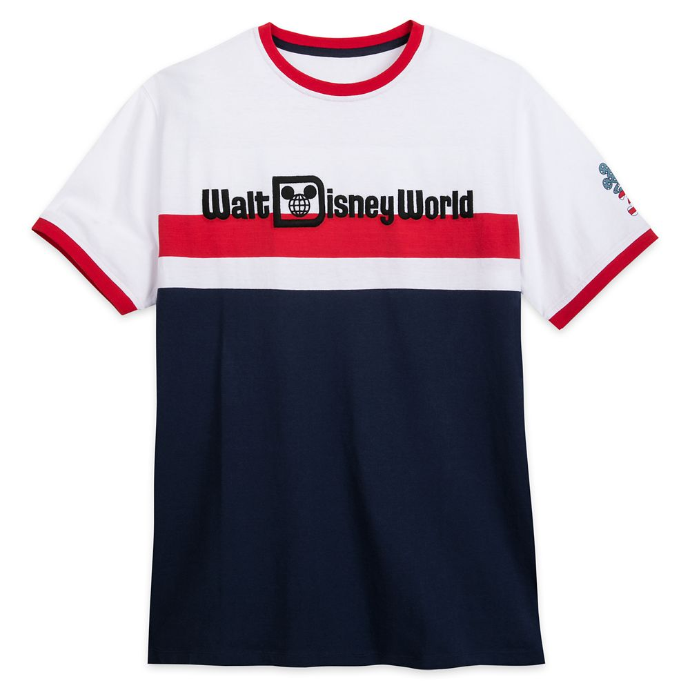 Walt Disney World Americana Ringer T-Shirt for Adults