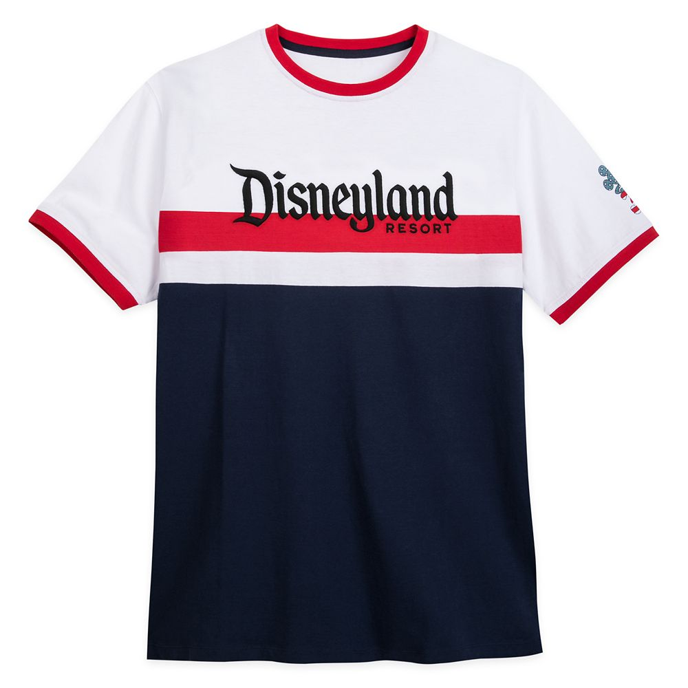 Disneyland Americana Ringer T-Shirt for Adults