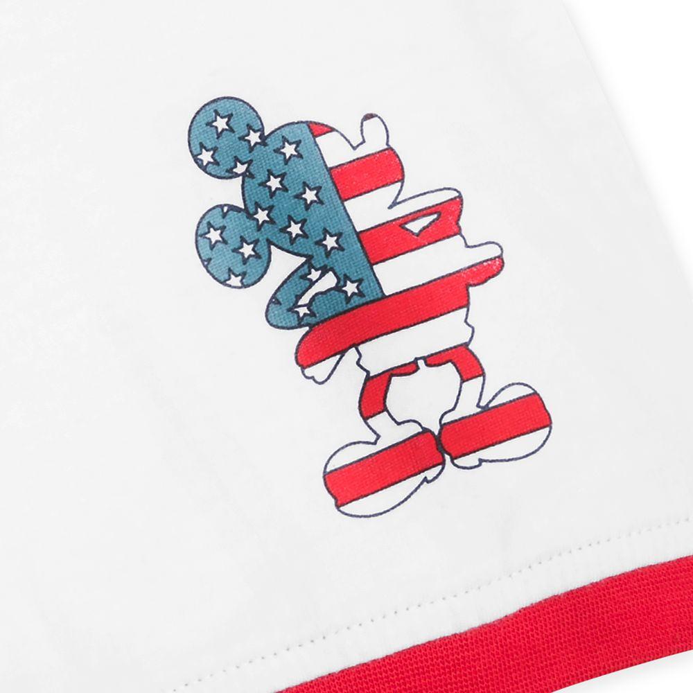 Disneyland Americana Ringer T-Shirt for Adults