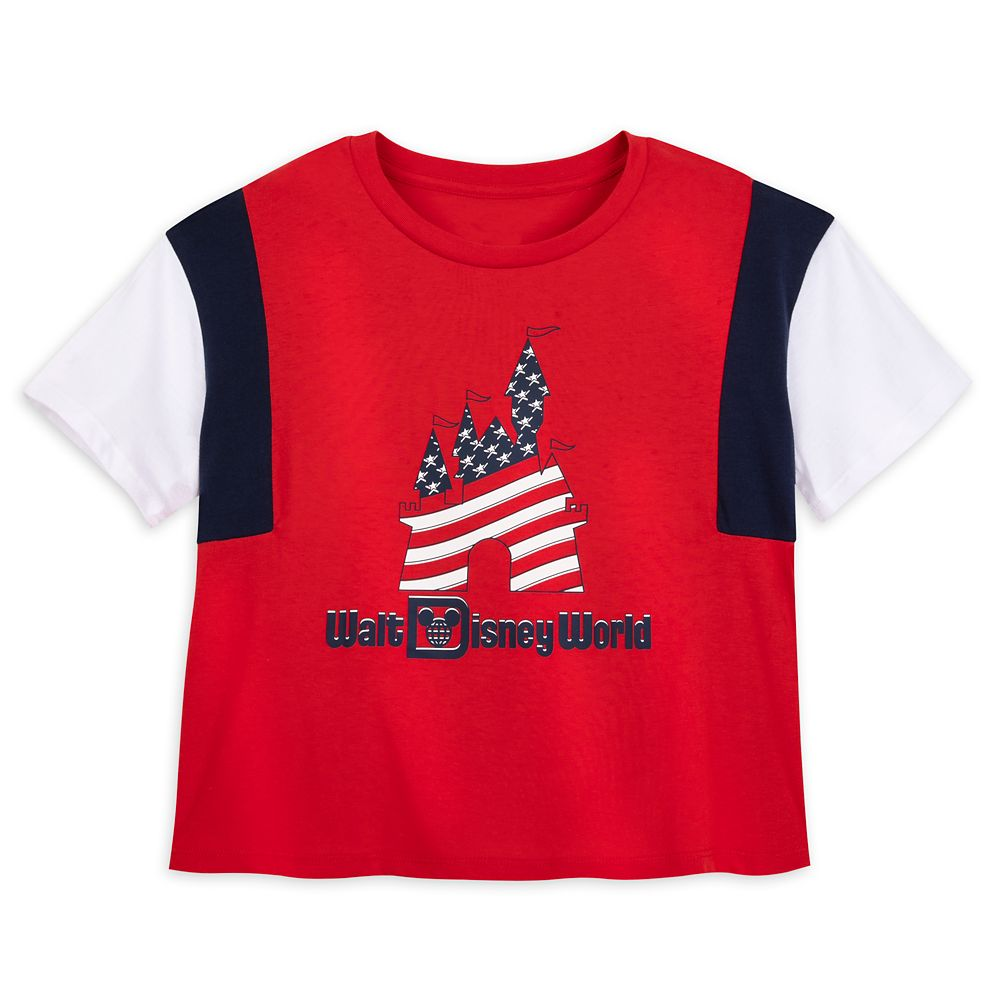 Americana Color Block Tee for Women – Walt Disney World