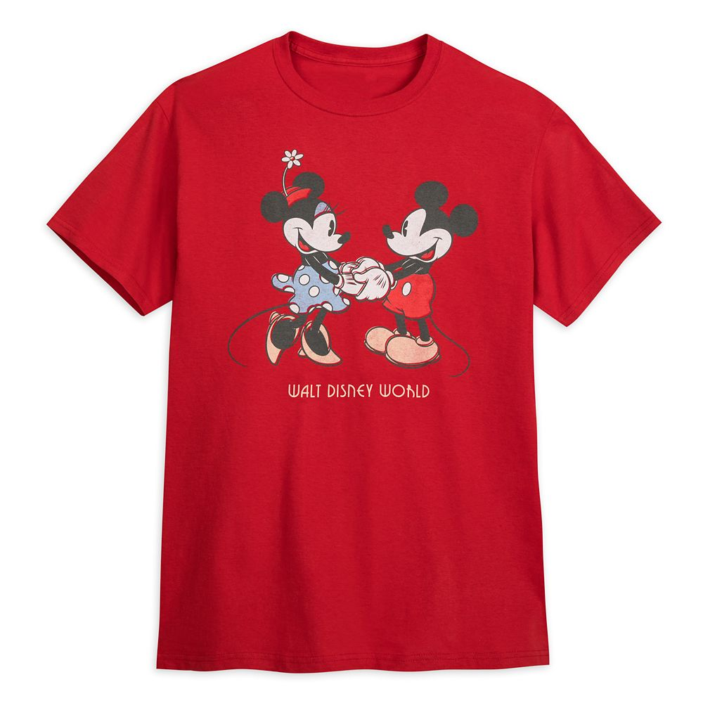 Mickey and Minnie Mouse T-Shirt for Adults – Walt Disney World