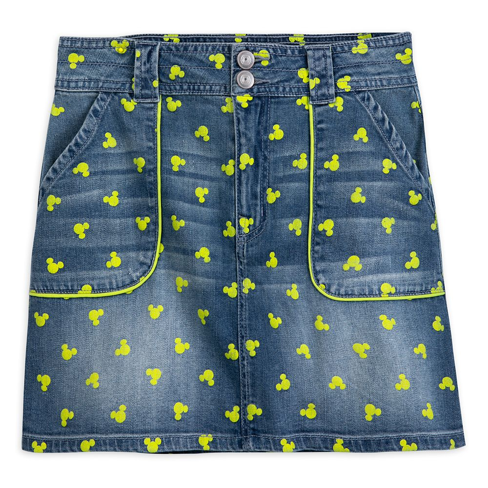 Disney Mickey Mouse Icon Denim Skirt for Juniors