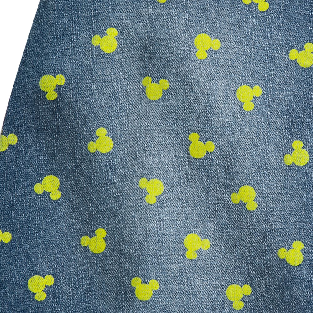 Mickey Mouse Icon Denim Skirt for Juniors