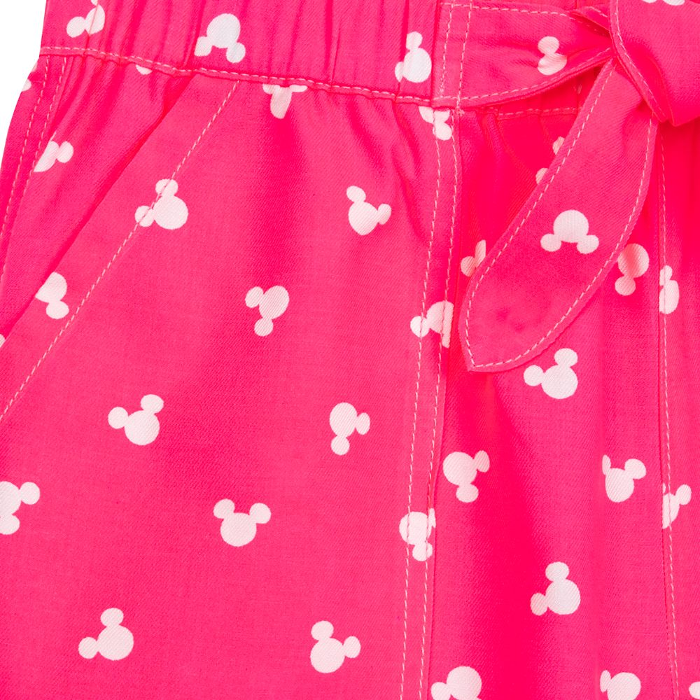 Mickey Mouse Icon Pink Denim Shorts for Juniors