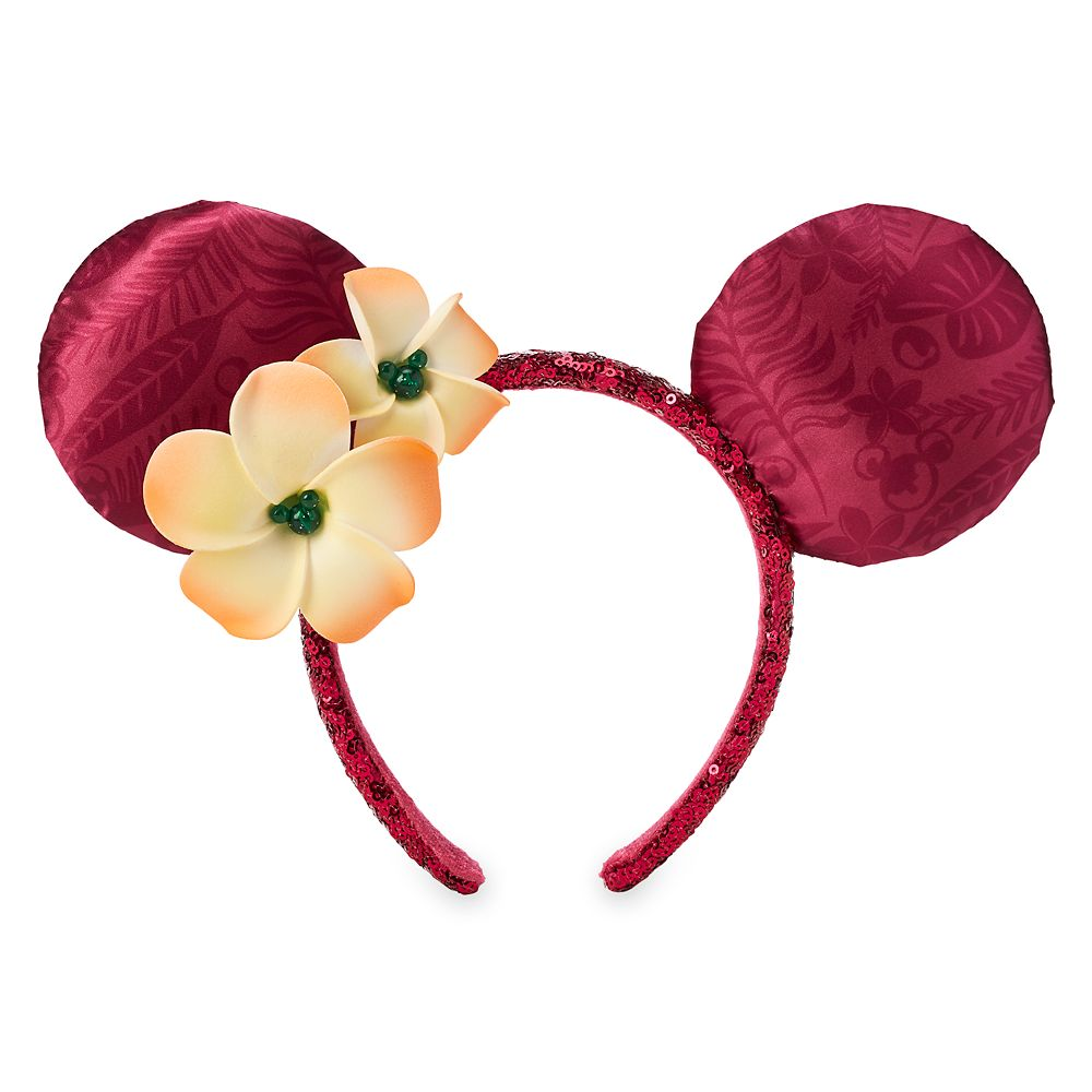Minnie Mouse Ear Headband with Plumeria – Aulani, A Disney Resort & Spa