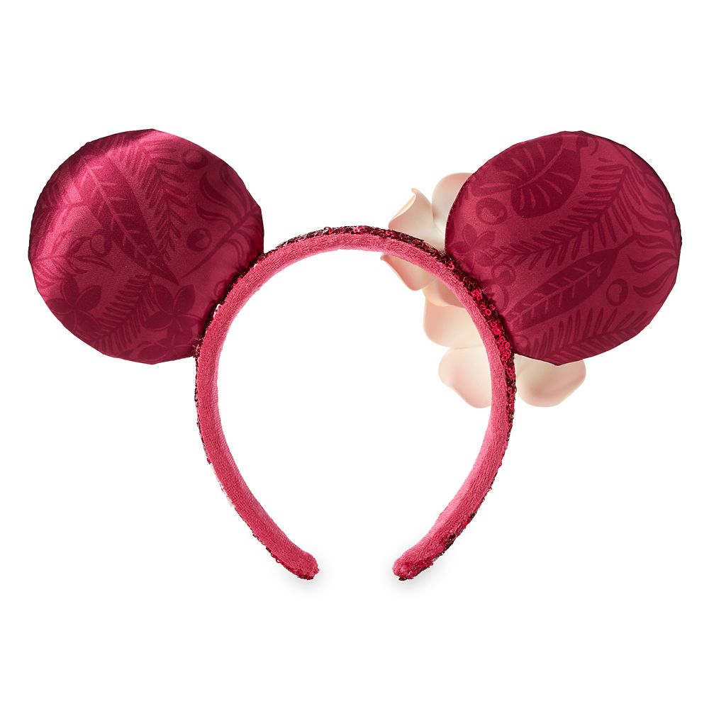 Minnie Mouse Ear Headband with Plumeria –Aulani, A Disney Resort & Spa
