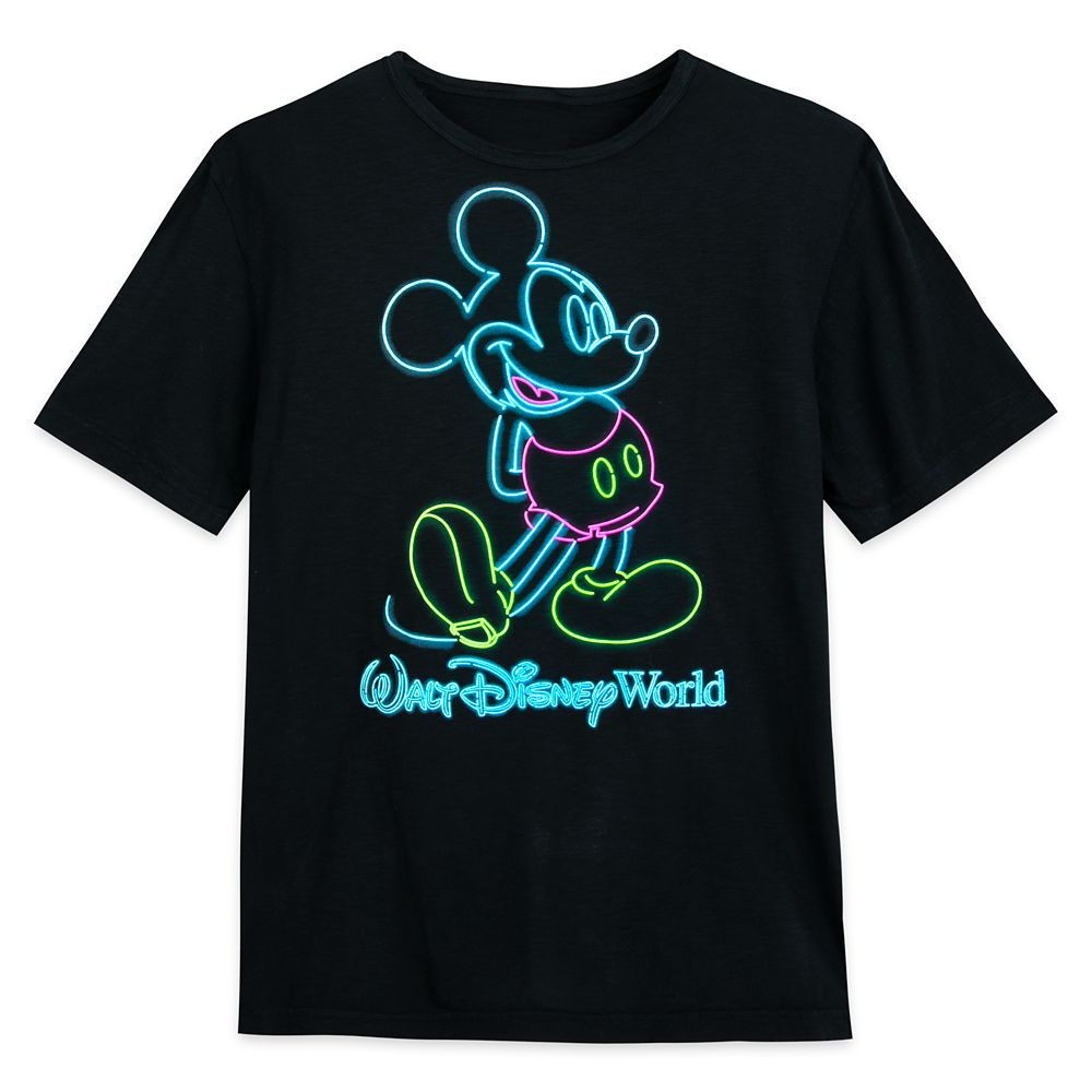Mickey Mouse Neon T-Shirt for Adults – Walt Disney World