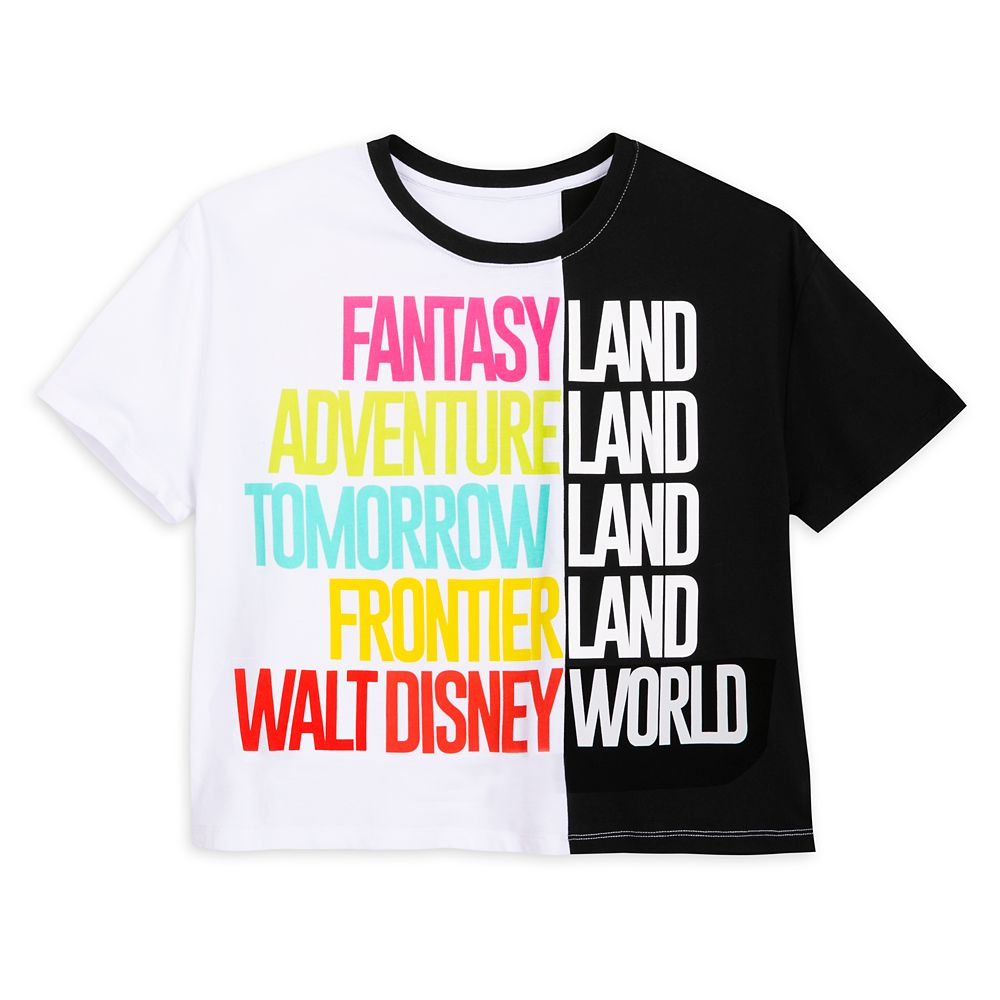 Walt Disney World Color Block Text T-Shirt for Women